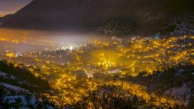 Distrito de Brasov Scheii, tiro de la noche Fotografía de archivo libre de regalías