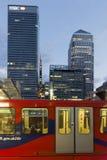 Distrito de Canary Wharf Londres imágenes de archivo libres de regalías