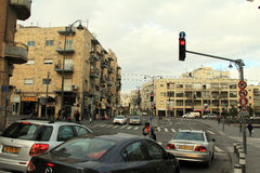 Distrito de casas velhas do início do século XX perto de Mahane Yehuda Market. Jerusalém Fotos de Stock Royalty Free
