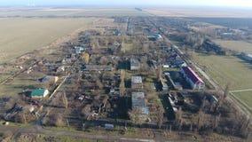 Distrito de Elitnyy Krasnoarmeyskiy da vila, Krasnodar Krai, Rússia Voo em uma altura de 100 medidores A ruína e o esquecimento Fotografia de Stock