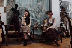 Distrito de fabricantes independentes - projeto de Steampunk - expressões e interpretações foto de stock royalty free