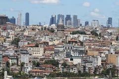 Distrito de Galata e de Karakoy na cidade de Istambul Imagem de Stock