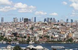 Distrito de Galata e de Karakoy na cidade de Istambul Foto de Stock Royalty Free