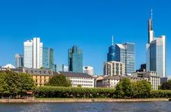 Distrito de Ginancial em Francoforte Imagens de Stock