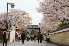 Distrito de Gion en Kyoto, Japón Imágenes de archivo libres de regalías