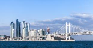 Distrito de Haeundae de Busan, Coreia do Sul fotos de stock royalty free
