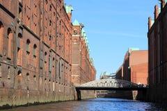 Distrito de Hamburgo Warehouse fotos de archivo