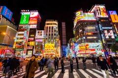 Distrito de Kabuki-Cho, Shinjuku, Tóquio, Japão Foto de Stock Royalty Free