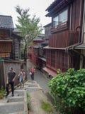 Distrito de Kazuemachi en Kanazawa, Jap?n imagen de archivo libre de regalías