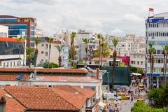 Distrito de Kulesi, centro da cidade de Antalya, Turquia Foto de Stock Royalty Free