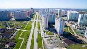 Distrito de la ciudad con los nuevos edificios fotos de archivo