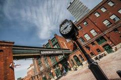 Distrito de la destilería - Toronto Canadá Foto de archivo