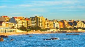 Distrito de la playa Oporto, Portugal fotos de archivo libres de regalías