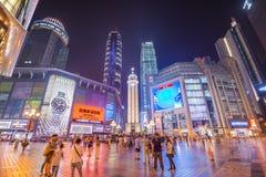 Distrito de las compras de Chongqing, China Fotografía de archivo libre de regalías