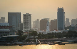 Distrito de las finanzas en Singapur Imagen de archivo