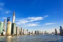 Distrito de Lujiazui en Shangai, China Fotografía de archivo