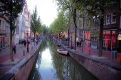 Distrito de luz vermelha em Amsterdão Imagens de Stock Royalty Free