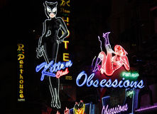 Distrito de luz vermelha em Pattaya Imagens de Stock Royalty Free