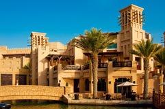 Distrito de Madinat Jumeirah 3, 2013 em Dubai. Fotografia de Stock Royalty Free