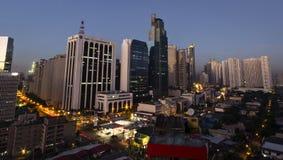 Distrito de Makati en Manila, Filipinas Imagenes de archivo