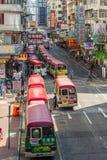 Distrito de Mong Kok en Hong Kong Foto de archivo libre de regalías