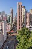 Distrito de Mong Kok en Hong Kong Fotos de archivo