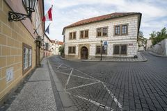 Distrito de Novy Svet en Praga foto de archivo