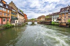 Distrito de Petite France del La en Estrasburgo foto de archivo libre de regalías