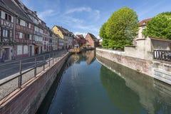 Distrito de Petite France del La en Estrasburgo fotos de archivo