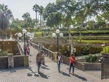 Distrito de Puente de los Suspiros Barranco en Lima Fotografía de archivo libre de regalías
