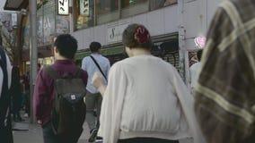 Distrito de Shibuya en la noche almacen de video