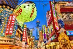 Distrito de Shinsekai em Osaka Imagem de Stock
