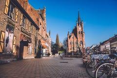 Distrito de Sint-Amandsberg en Gante Imagen de archivo libre de regalías