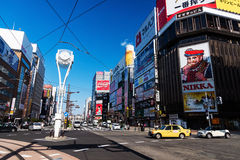 Distrito de Susukino, Sapporo Foto de Stock Royalty Free