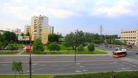 Distrito de Ursynow de Varsovia, Polonia almacen de metraje de vídeo
