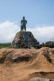 Distrito de Wanli, nueva ciudad de Taipei, estatua del bronce de Taiwán Yehliu Geopark de Lin Tian Zhen Fotos de archivo