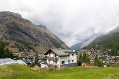 Distrito de Zermatt en Suiza Imagen de archivo libre de regalías