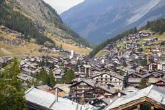 Distrito de Zermatt en Suiza Imagenes de archivo