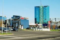 Distrito de Zverynas em Vilnius no tempo da tarde Fotos de Stock Royalty Free