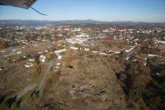 Distrito del área residencial de Victoria Canada de la visión aérea imagen de archivo