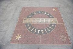 Distrito del teatro de Chicago foto de archivo