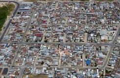 Distrito densamente povoado em África do Sul, de cima de foto de stock royalty free
