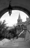 Distrito do castelo de Budapest imagens de stock