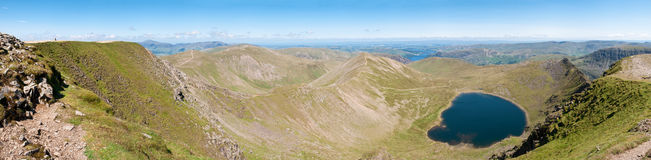 Distrito do lago, vista de Helvellyn - panorama Foto de Stock Royalty Free