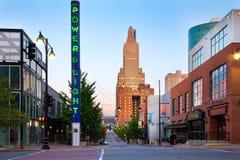 Distrito do poder e da luz de Kansas City Foto de Stock