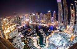 Distrito do porto de Dubai fotografia de stock