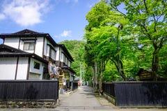 Distrito do samurai de Kakunodate em Akita, Japão Foto de Stock Royalty Free