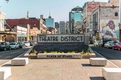 Distrito do teatro de New York do búfalo Imagens de Stock
