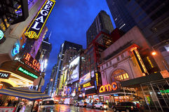 Distrito do teatro, Manhattan, New York City Fotografia de Stock Royalty Free