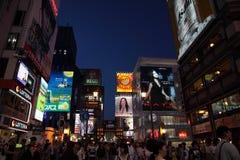 Distrito do tonbori do  de DÅ na noite em Osaka, Japão Fotografia de Stock